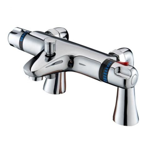bath shower mixer tap new chrome deck mounted thermostatic bath shower mixer tap