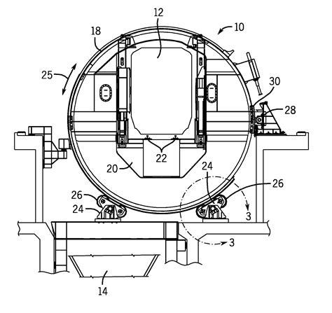 Car Dumper Trunnion by Patent Us20120048627 Rotary Rail Car Dumper Load