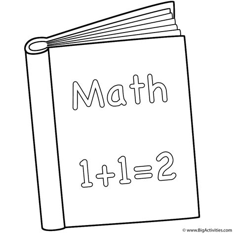 math book pictures math book coloring page 100th day of school
