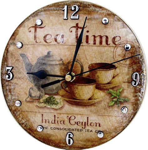 Decoupage Wall Clock Folksy