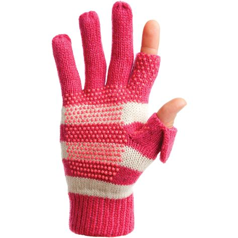 knit gloves freehands s stripe wool knit gloves pink 22152 b h