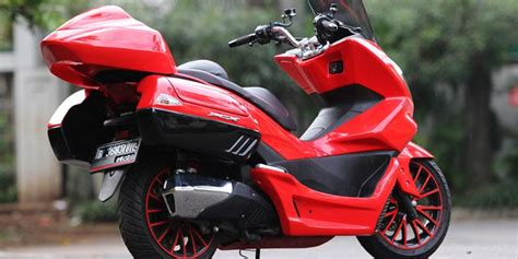 Pcx 2018 Cirebon by Mantab Modifikasi Motor Honda Pcx Bergaya Touring 2018