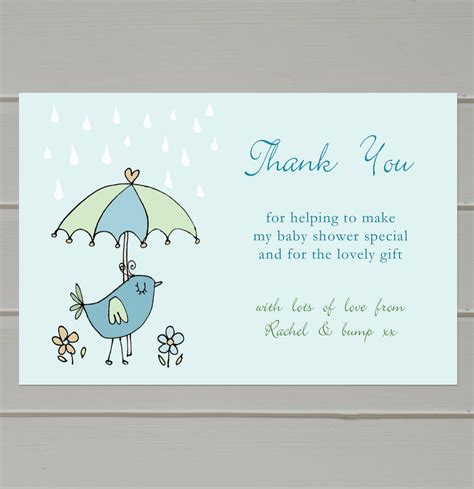 Message For Baby Shower Thank You Cards by Personalised Baby Shower Thank You Cards By Molly Moo
