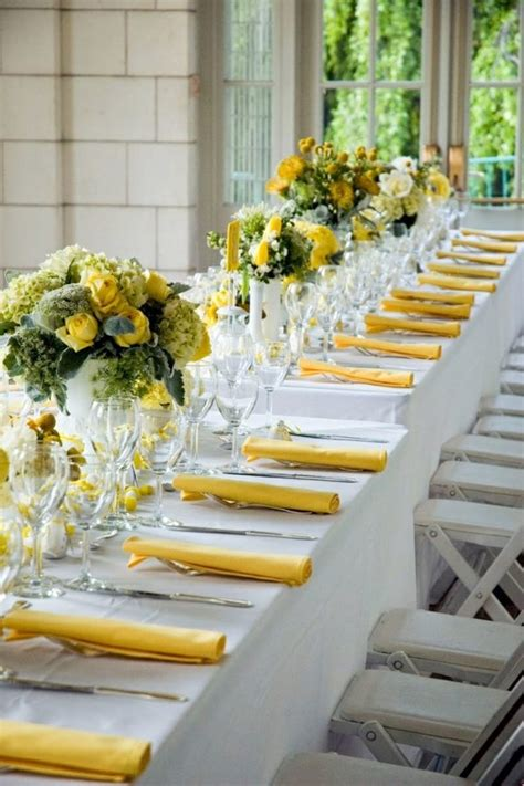 Green And Yellow Table Decorations by Table Decoration In Green And Yellow Colors For A Festive