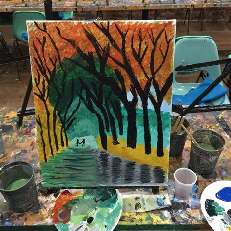 paint nite nyc byob byob painting workshop 2 5hr midtown painting lounge