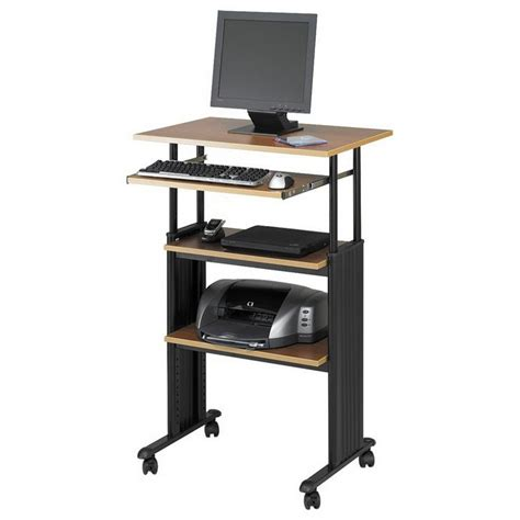 adjustable standing computer desk narrow computer desk with shelves standing adjustable