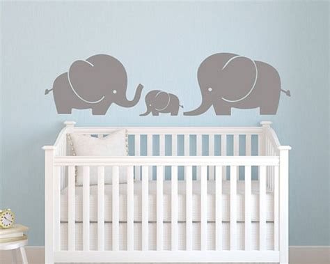 nursery vinyl wall decals vinyl wall decal elephant family wall decal elephant