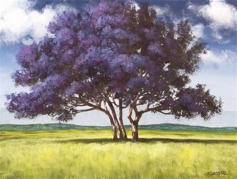 acrylic paint trees jacaranda painting lesson on dvd tim gagnon studio