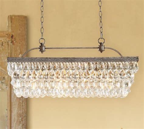 clarissa chandelier clarissa glass drop rectangular chandelier