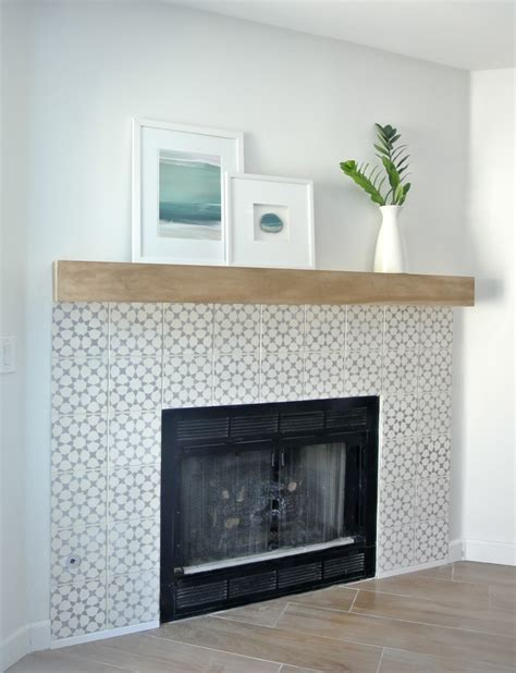 tiled fireplace surrounds diy fireplace makeover centsational style