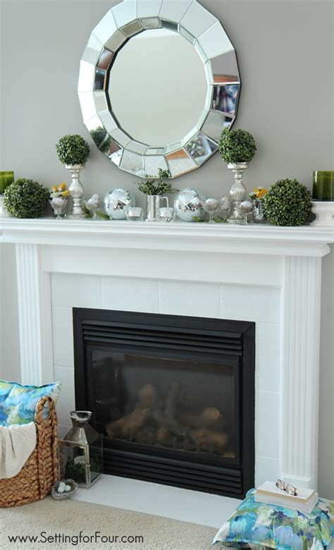 decorating a mantel for mantel decorating ideas setting for four