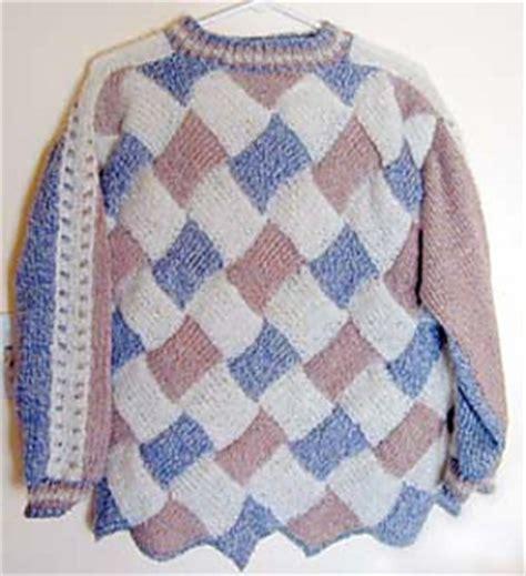 entrelac knitting patterns sweater ravelry machine knit entrelac sweater pattern by theresa