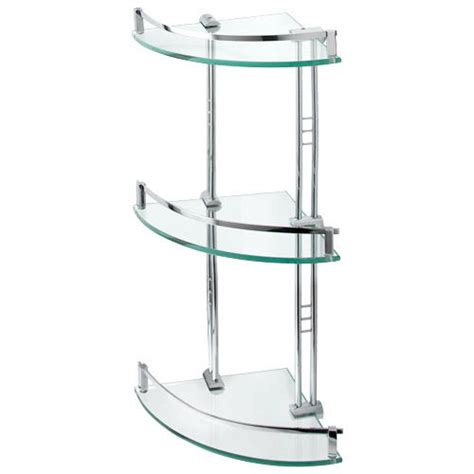engel tempered glass corner shelf three shelves bathroom