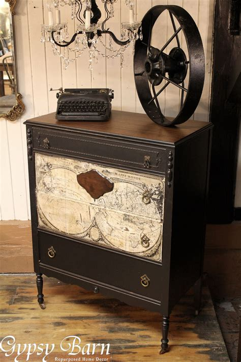 decoupage on wood furniture hometalk repurposing dresser with decoupage map