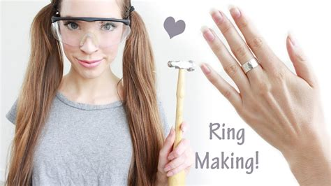 how to make custom jewelry at home how to make a hammered sterling silver ring