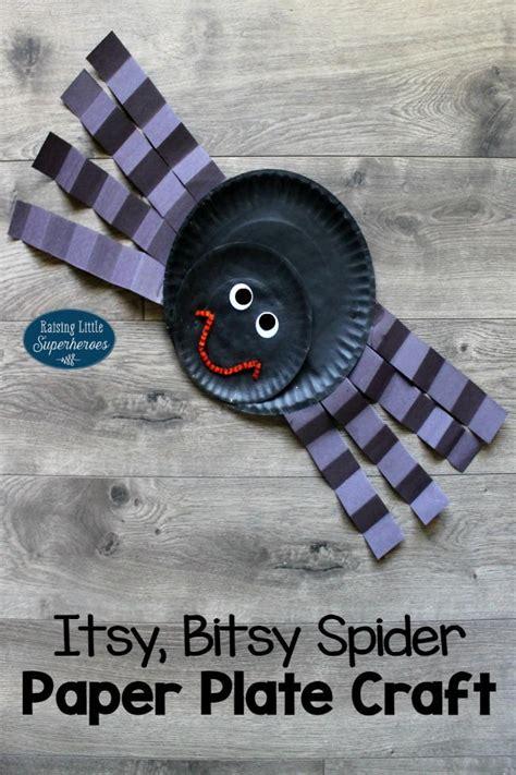 paper plate spider craft itsy bitsy spider paper plate craft allfreekidscrafts