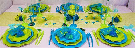 d 233 coration de table turquoise et vert id 233 e d 233 co table bleu et vert