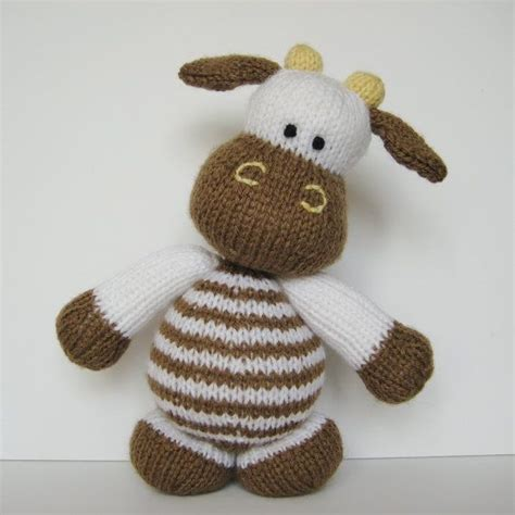 knit animals milkshake the cow knitting pattern designed by amanda