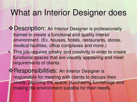 interior design description interior design