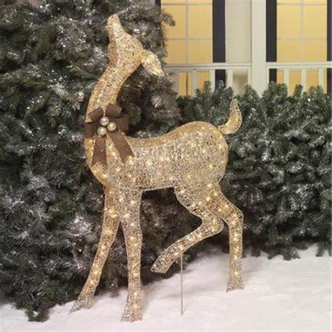 outdoor decorations deer 52 quot outdoor lighted display deer yard decor