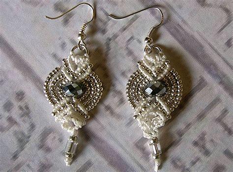 macrame earrings inspirations micro macrame earrings