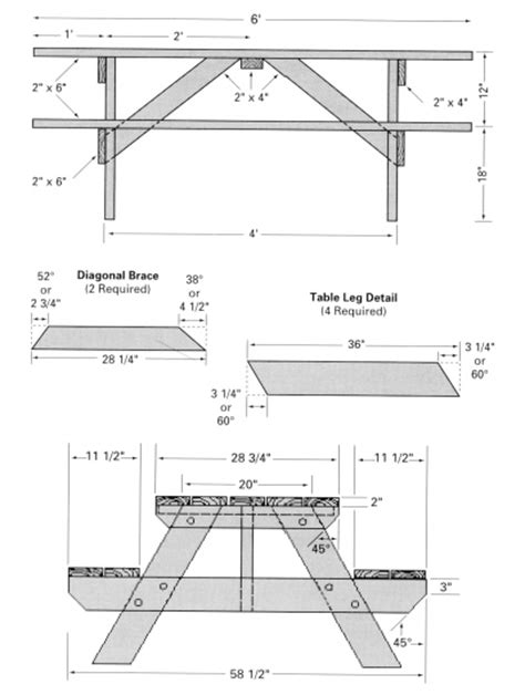picnic table woodworking plans pdf diy free woodworking plans picnic table