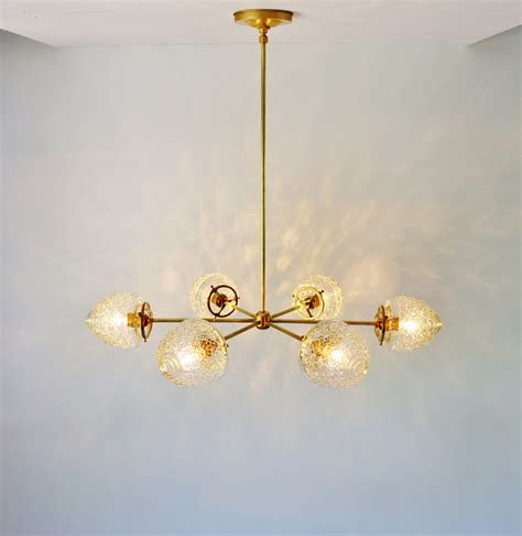 modern brass chandelier modern brass chandelier with clear glass acorn shades 6