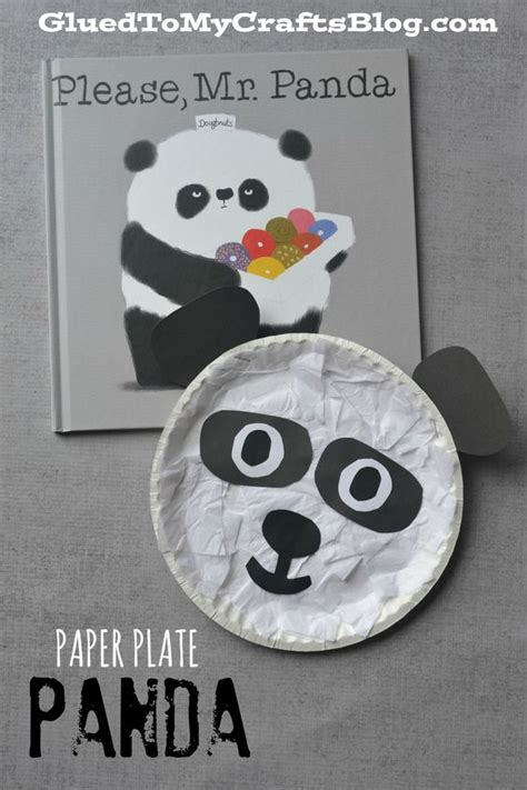 panda paper plate craft paper book and crafts on