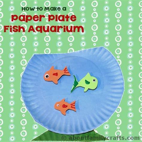 paper plate aquarium craft paper plate fish aquarium about family crafts