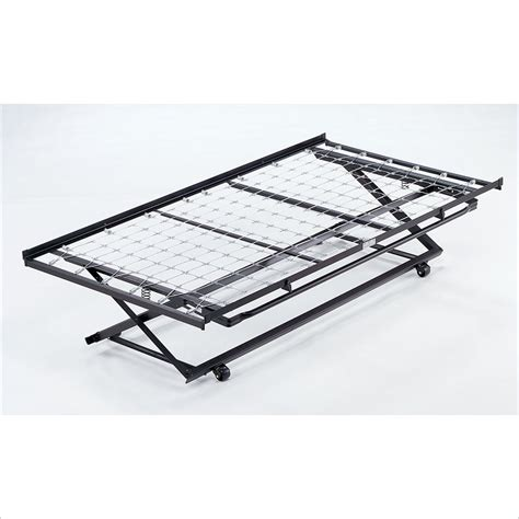 metal trundle bed frame pop up chalet metal daybed in black finish with pop up trundle