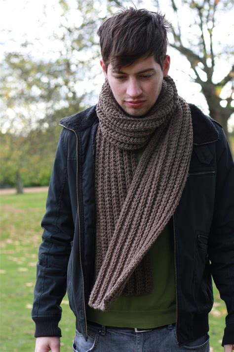 mens chunky knit scarf s scarf chunky knit scarf brown folksy