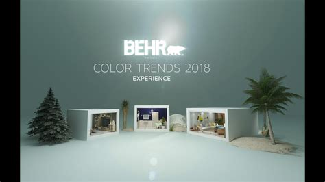 behr paint colors for 2018 behr color trends 2018 vr 360 experience