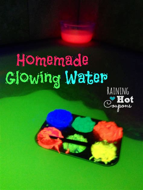 glow in the paint mixed with water glowing water