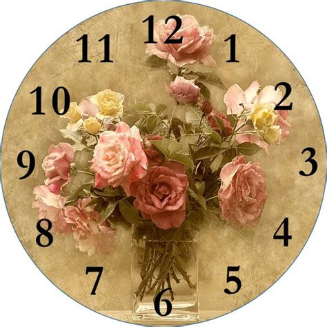 decoupage clock decoupage clock printable click for more smells