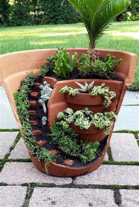 garden pots best 25 broken pot garden ideas on