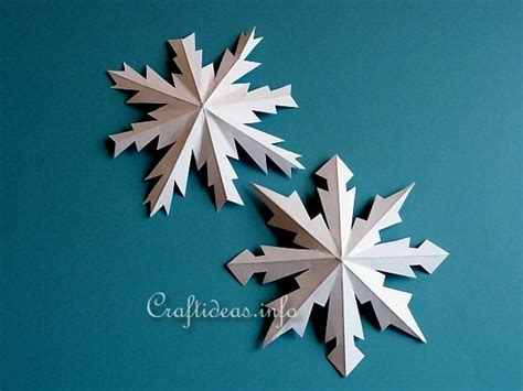 paper snowflake crafts craftideas link crafts eight pointed metallic