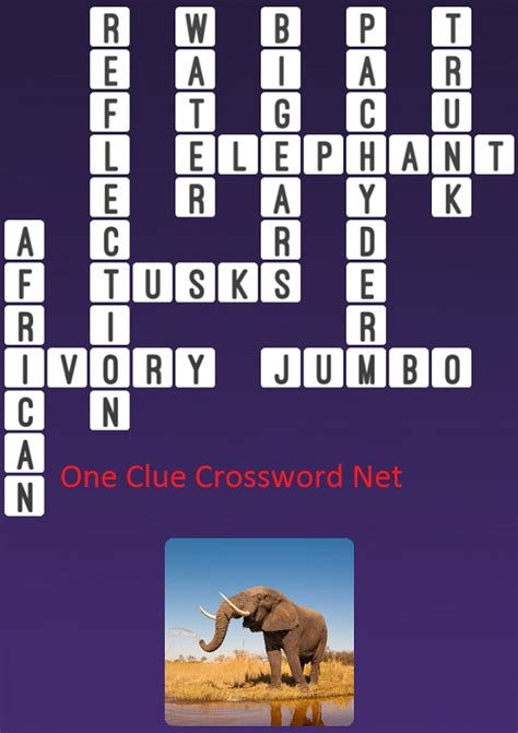 crossword clue elephant one clue crossword cheats
