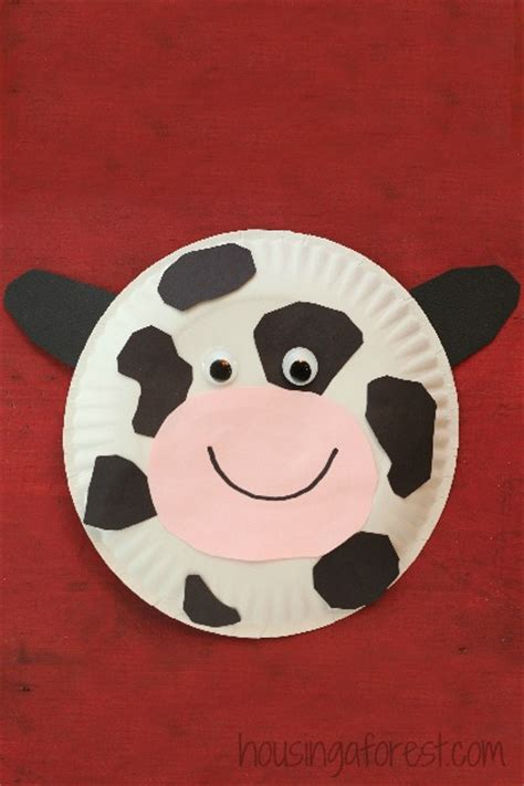 Paper Plate Cow Housing A Forest