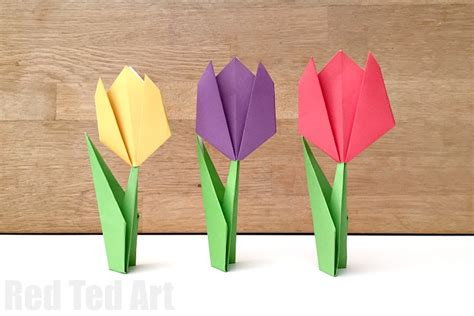 paper tulip origami origami archives ted s