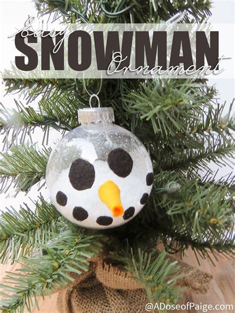 handmade snowman ornaments 33 handmade ornaments for