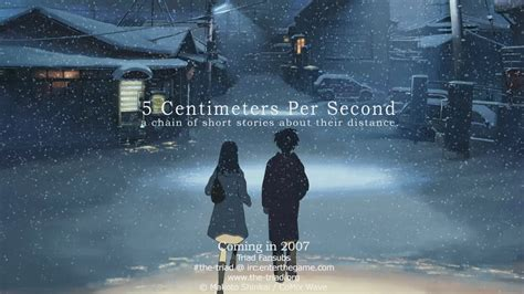 5cm per second byousoku 5 centimeter 5 centimeters per second original