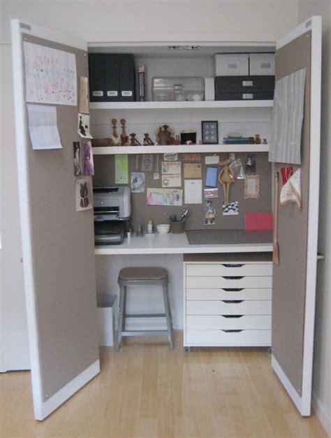 desk in closet best 25 closet turned office ideas on