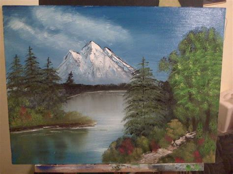 bob ross painting lake pin by ml donovan on my paintings