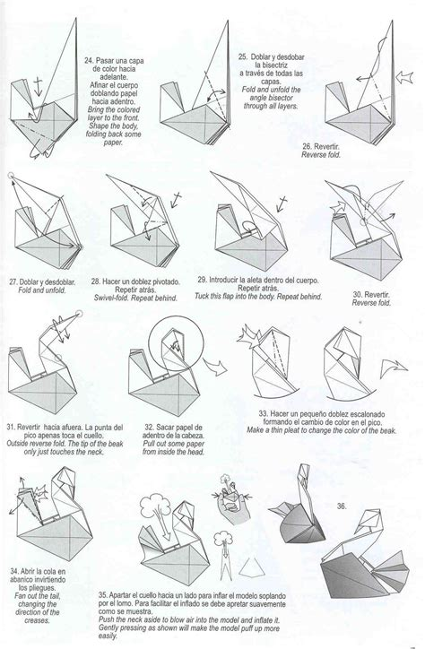 swan origami step by step swan origami by diaz