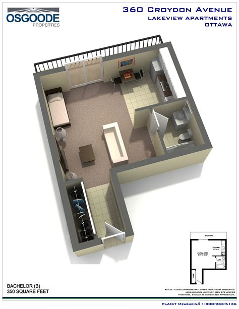 bachelor flat floor plans rent at lakeview apartments in ottawa ontario