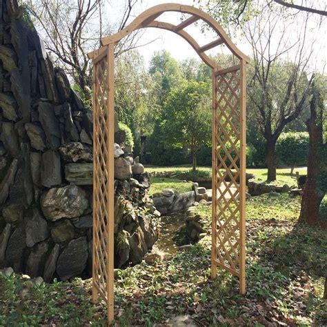 Garden Arch Materials Wooden Garden Arch Pergola Trellis Plant Support Archway