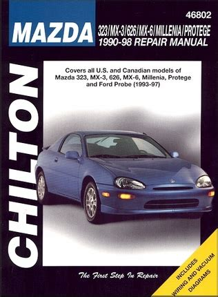 automotive repair manual 1997 ford probe auto manual 323 mx3 626 mx6 millenia 1990 1998 probe 1993 1997 repair manual