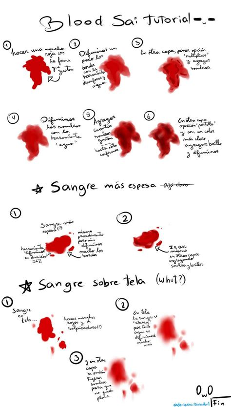 paint tool sai blood tutorial 127 best images about draw injuries injured characters