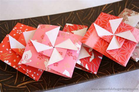new years origami origami pinwheel envelopes a spoonful of sugar