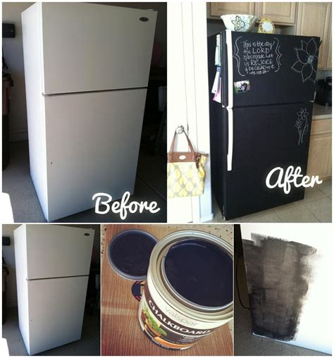 chalkboard paint diy projects diy home project paint your fridge using chalkboard paint